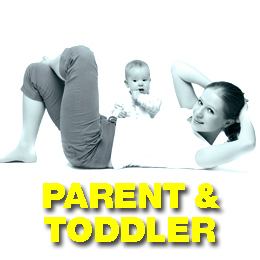 A parent and toddler friendly fitness class